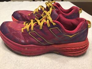 Hoka One One Women's Trail Running Shoe Vibram MegaGip Size US 10