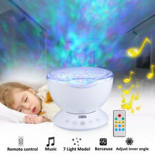 Ocean Wave Relaxing Music LED Night Light Projector Remote Lamp Baby Sleep Gift
