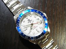 ALPHA GMT-MASTER BLUEBARRY INSERT WHITE DIAL AUTOMATIC WATCH*Ebay Lowest Price*