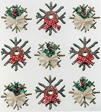 JOLEE'S BOUTIQUE DIMENSIONAL STICKERS ~CHIPBOARD SNOWFLAKES