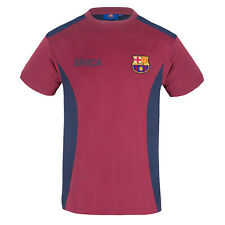 More details for fc barcelona mens t-shirt poly training kit official football gift