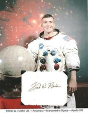 Fred Haise Autograph APOLLO 13 Space NASA Astronaut LMP Lunar Module Pilot #1