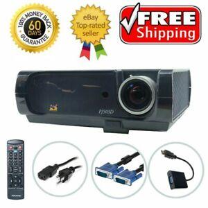 ViewSonic PJ503D DLP Projector HD 1080i HDMI-adapter SVGA Portable w/Accessories