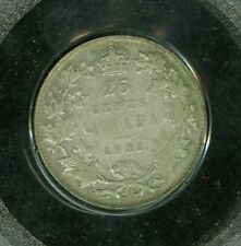 1921 CANADA 25 CENT CERTIFED FINE F A $40 COIN