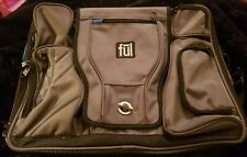 FUL Black Gray Briefcase Messenger Bag Padded Laptop Area with a Shoulder Strap