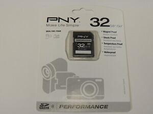 New - PNY Performance 32GB SDHC memory Card Class 4 P-SDHC32G4H-GE 751492374482