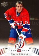 2008-09 Upper Deck Montreal Canadiens Centennial #52 Craig Ludwig