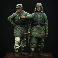 1/35 Resin Figure Model Kit German Soldiers Grenadier 4 Heads WWII WW2 Unpainted