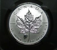 2018 $5 CANADA SILVER MAPLE LEAF NGC PF69 BISON BUFFALO PRIVY REV PROOF FR RETRO