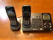 Panasonic KX-TG9381 2-Line Cordless Phone Base and 2 KX-TGA939T Handsets
