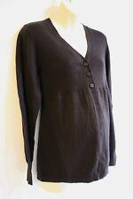 Oh Baby Motherhood Maternity Cardigan Sweater Size M 8 10 Brown Retail $44