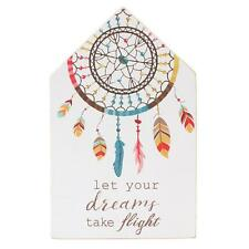 Let Your Dreams Take Flight. Dreamcatcher Design Wooden Wall Hanging Picture.