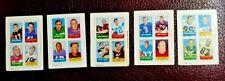 1969 Topps (5) 4-in-1 Football Stamps - Sonny Jurgensen, Billy Kilmer, Tom Matte