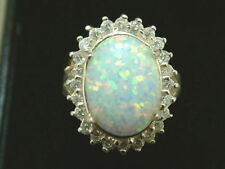Opal Lab-Created/Cultured Costume Rings