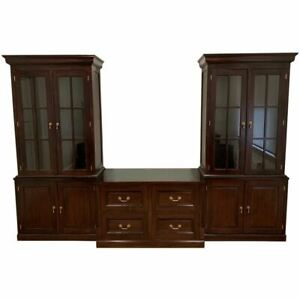 Solid MahoganyWood Home/Office Bookcases and Filing Drawers Antique Reproduction