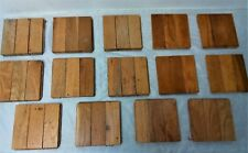 Lot of 14 Vintage Solid Oak Flooring Sections (A)