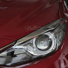 For MAZDA 3 AXELA 2013 2014 Chrome Front Lamp Headlight Eyebrow Cover Trim