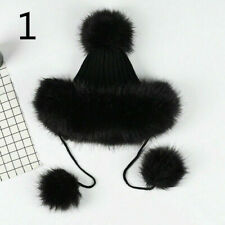 Damen Kunstpelz Fischerhut Bush Hut Breite Krempe Flauschig Winter Vintage Mode