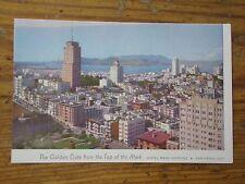 Vintage Postcard The Golden Gate From Mark Hopkins Hotel, San Francisco, Calif.