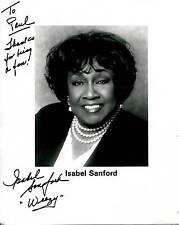 "ISABEL SANFORD ""WEEZY"" OF THE JEFFERSONS TELEVISION SHOW SIGNED PHOTO AUTOGRAPH"