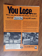 1951 Alemite Ad Rock Springs WY Zaks Nash Sales Dulaney DeSoto  Townson Maryland