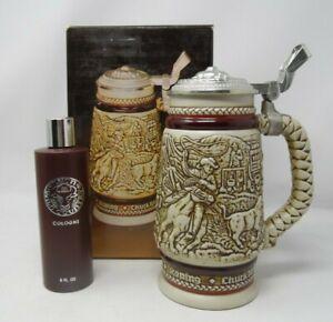 Avon Western Round-Up Ceramic Stein Wild Country in Original Box with Cologne