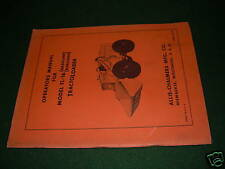 ALLIS-CHALMERS 16 WHEEL LOADER OPERATORS TRACTOR MANUAL