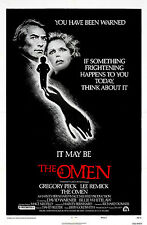 The Omen - Gregory Peck - Patrick Troughton - A4 Laminated Mini Movie Poster