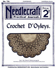 Needlecraft Practical Journal #136 c.1916 Vintage Crochet Lace Doily Patterns