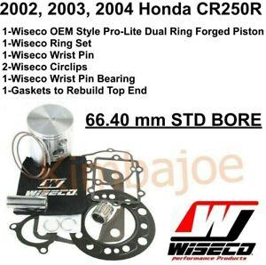 2002 2003 2004 Honda CR 250R 66.40 mm STD BORE Wiseco Forged Piston Rebuild Kit