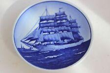 Royal Copenhagen Skoleskibet Ship Mini Porcelain Plate
