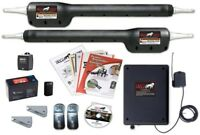 Heavy Duty Automatic Gate Opener Solar Dual Swinging Remote Control 46 Inches
