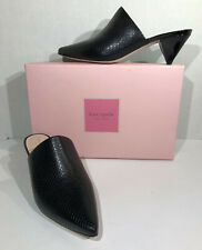 Kate Spade NY Ryan Women's Size 8.5M Black Snake Print Leather Mule Shoes ZC-610