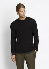 VME115 NWT VINCE MERINO WOOL DOUBLE LAYER CREWNECK MEN SWEATER SIZE L $225
