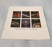 1986 Cadillac Eldorado Seville De Ville Original Brochure Catalog 33 pages