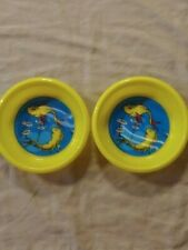 "Dr Seuss ~ 2 Yellow Plastic Cereal Bowl 6"" ~ ""To There To Here.Near Far"""