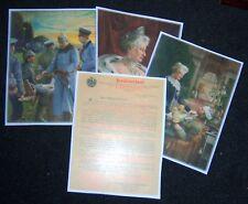"GERMAN - ""Invalidendank"".Selection of 3 Colour Prints & Covering Letter (Copies)"