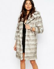River Island Faux Fur Coat/Jacket UK 6/EU 34/US 2