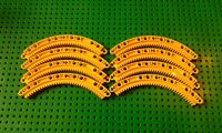 2 x NEW GENUINE LEGO TECHNIC YELLOW CIRCLE CURVED ROUND GEAR PART No : 6151167