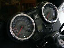 Honda CB 1300S 1998-2012  Polished Aluminium Chrome Gauge Trim Rings 2pcs