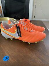 Nike Tiempo Legend VI AG Pro Soccer Cleats 846227-818 Orange Size 7.5