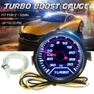 2'' 52mm Digital LED Turbo Boost Vacuum Press Pressure Gauge Meter Up 35 Psi