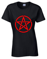 Pentagram T-Shirt Womens S-5XL goth rock punk metal gothic biker satanic red