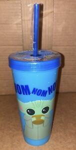 The Mandalorian Baby Yoda Blue COLOR CHANGING TUMBLER cup NEW