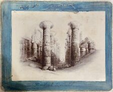 AUTHENTIC ANTIQUE ALBUMEN 1800s PHOTOGRAPH PHOTO HYPOSTYLE HALL ANCIENT EGYPT