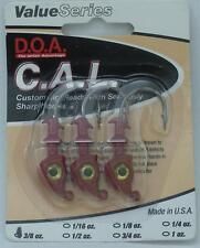 DOA 87424 Cal Jighead Red 3/8 Oz 20997