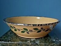 """THREE RIVERS POTTERY 1992 Extra Large 13.5"""" ROUND BOWL Signed Hand Painted"""