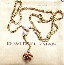 DAVID YURMAN 18K YELLOW GOLD RHODOLITE GARNET AND DIAMOND NECKLACE 6.60 CT
