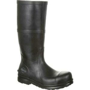 SlipGrips Steel Toe Slip-Resistant Waterproof Rubber Work Boot