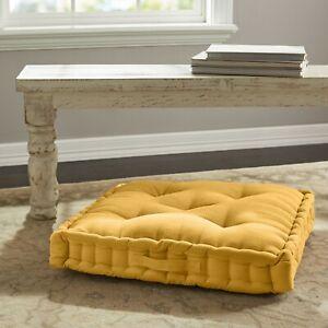 Corduroy Tufted Square Floor Cushio Multicolor Office Kid Room Bed & Living Room
